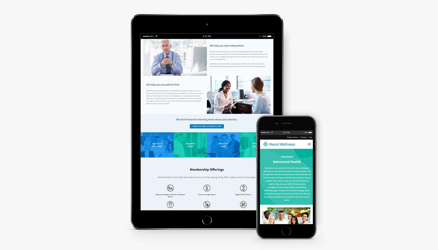 Nexis Wellness website
