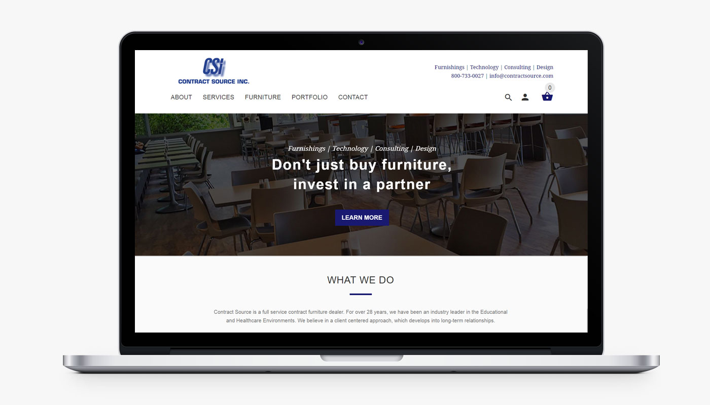Contract Source Inc mobile ecommerce website