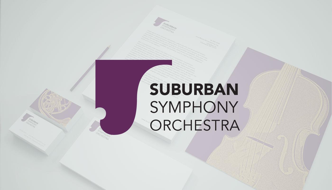 Suburban Symphony Orchestra branding design