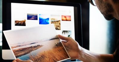 The creative process of a graphic designer