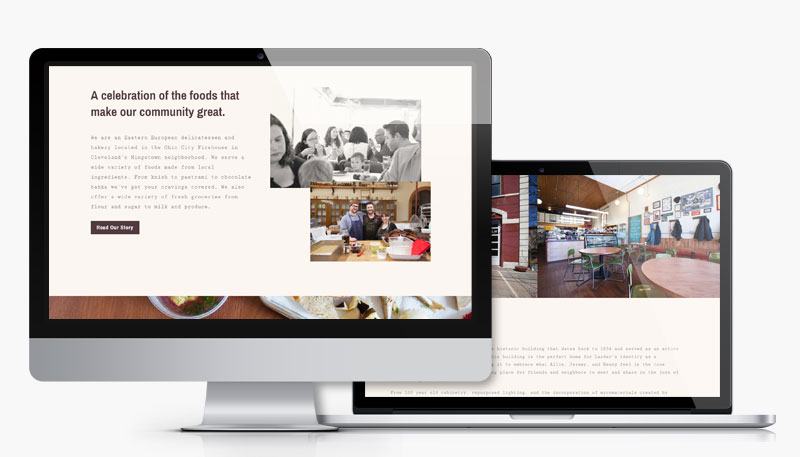 Larder Delicatessen and Bakery mobile design