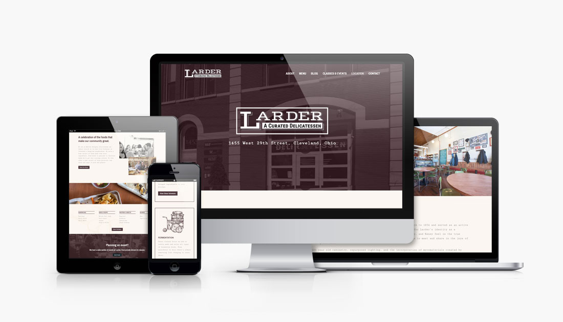 Larder Delicatessen and Bakery responsive website design