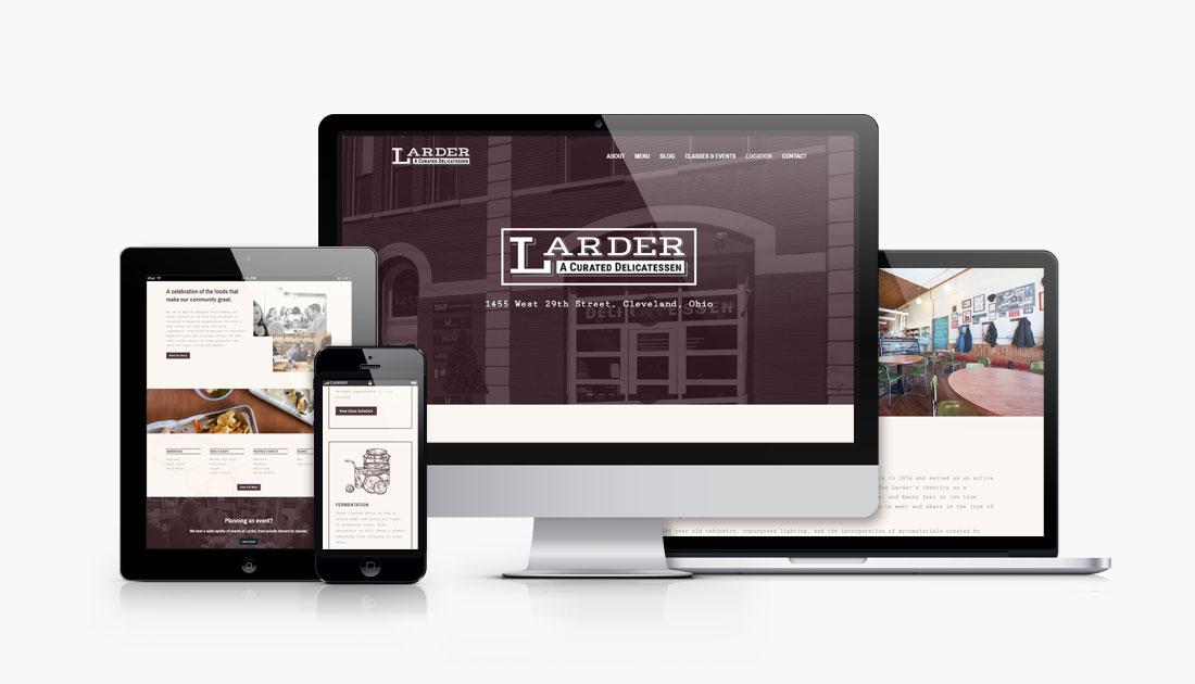 Larder Delicatessen and Bakery responsive website design