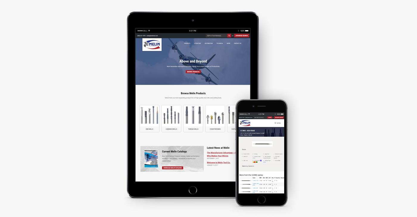 Melin Tool website design