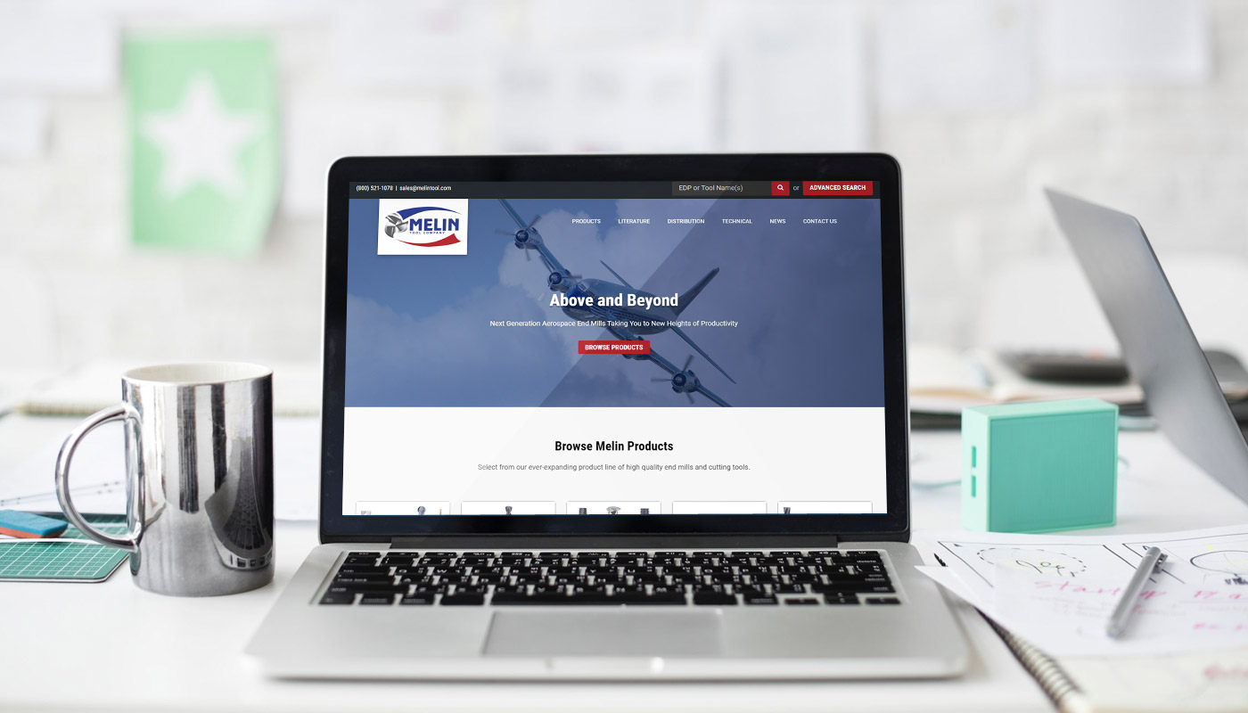 Melin Tool Company website design