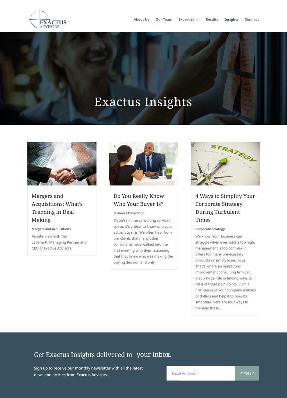 Exactus Advisors blog