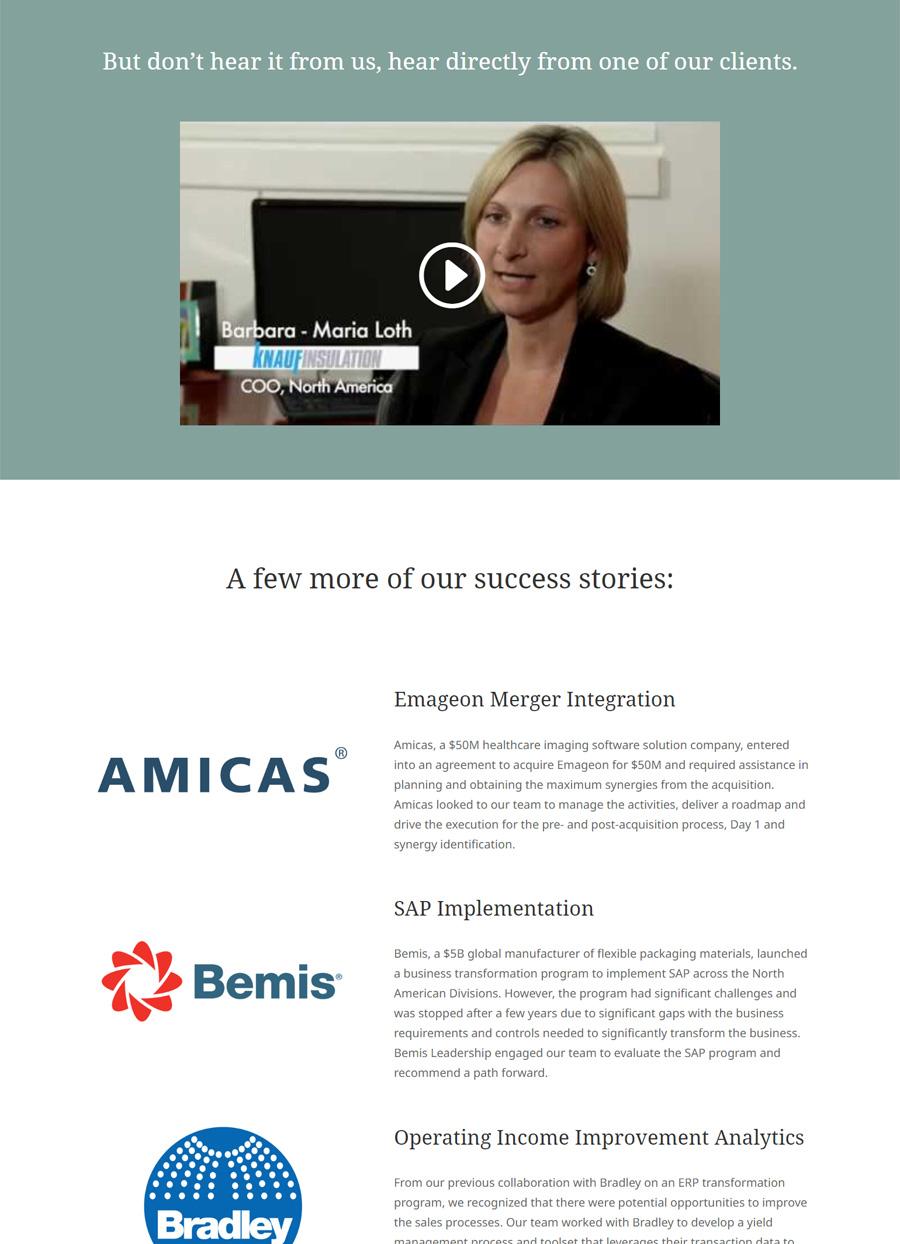 Exactus Advisors case studies