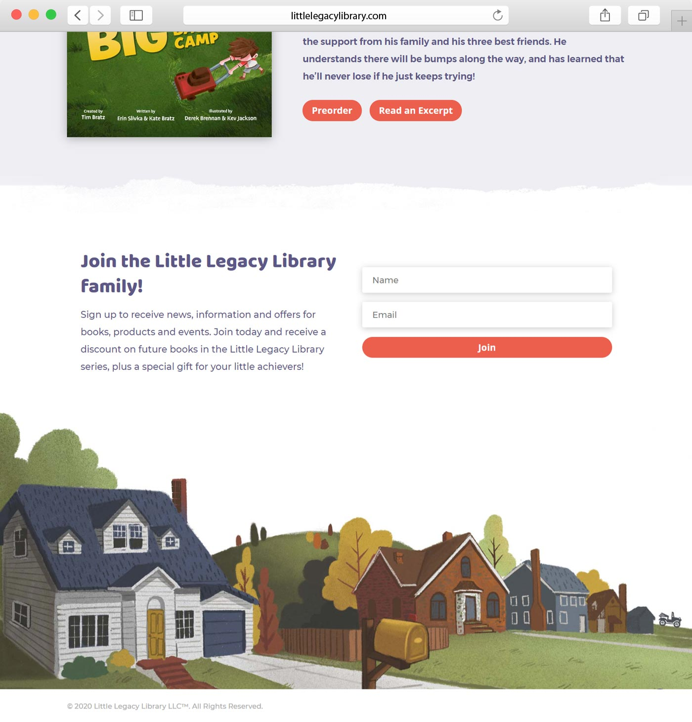 Little Legacy Library website design
