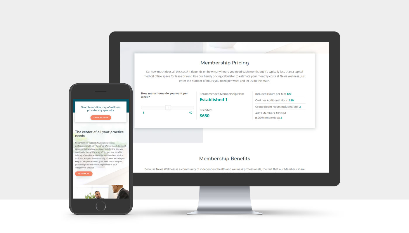 Nexis Wellness responsive website design